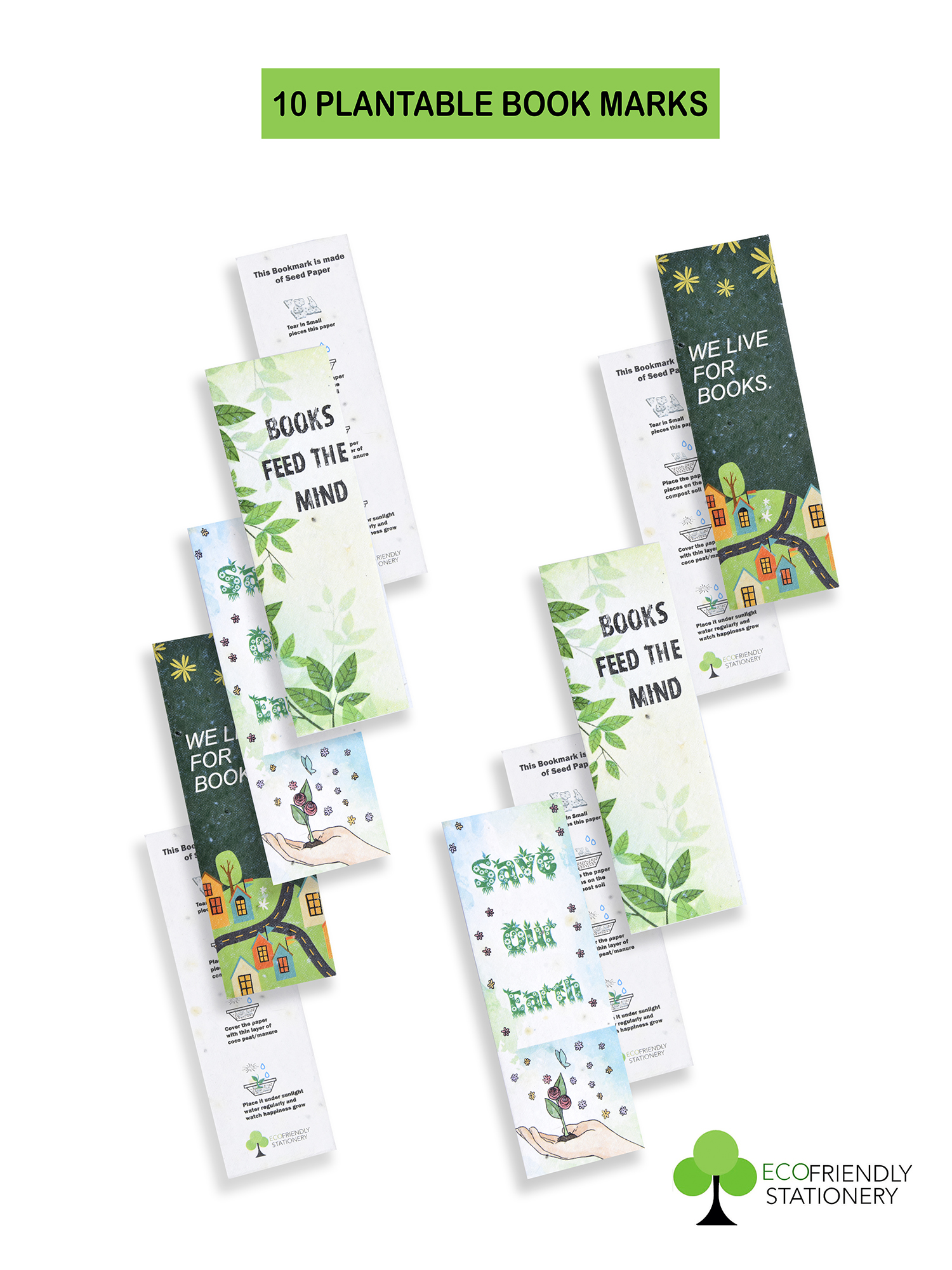 Recyclable Paper Plantable Seed BookMark