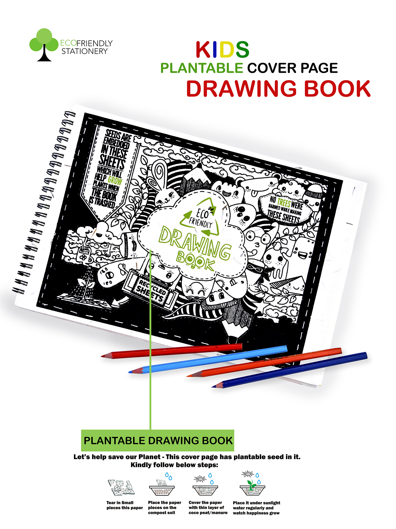 Recylcable Paper Drawing Book