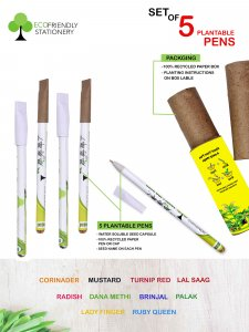 Set Of 5 Recyclable Pens