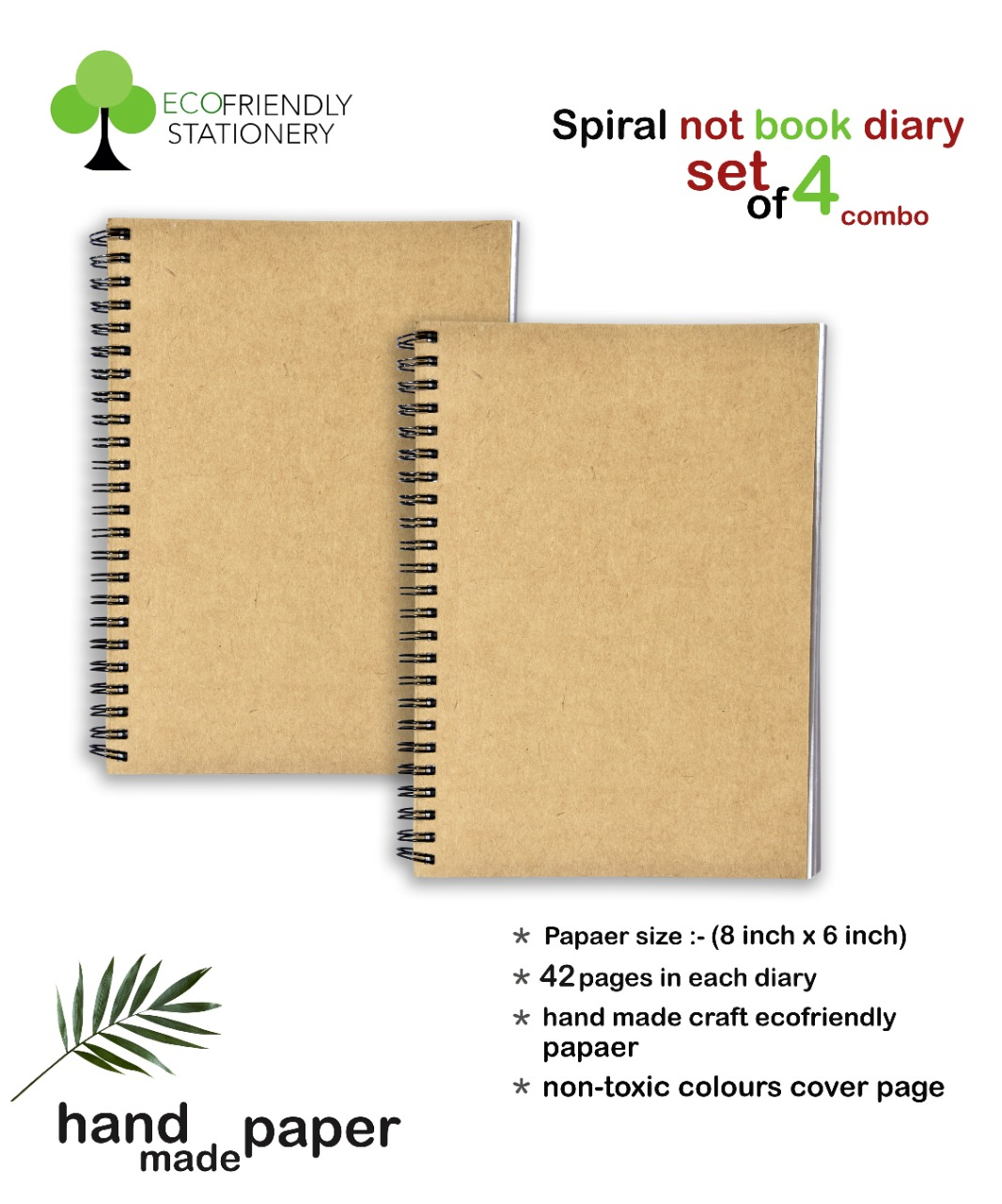 Spiral NoteBooks Diary Set of 4 Combo